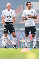 ROTTERDAM - Eerste training van Feyenoord , voetbal , seizoen 2015-2016 , Stadion De Kuip , 28-06-2015 , Feyenoord assistent trainer Jan Wouters (l) samen met Feyenoord trainer Giovanni van Bronckhorst (r)