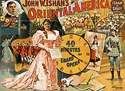 John W. Isham's Oriental America 40 minutes of grand opera. Other Title: Oriental America. c1896. print (poster) : lithograph