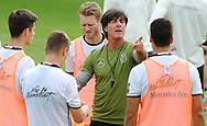 Joachim Low, head coach of Germany speaks to his players during training at Stadio Communale, Ascona<br /> Picture by EXPA Pictures/Focus Images Ltd 07814482222<br /> 31/05/2016<br /> ***UK &amp; IRELAND ONLY***<br /> EXPA-EIB-160531-0025.jpg