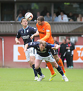 Dundee United's Nadir Çiftçi battles with Dundee's Stephen McGinn and Gary Irvine  - Dundee United v Dundee at Tannadice Park in the SPFL Premiership<br /> <br />  - © David Young - www.davidyoungphoto.co.uk - email: davidyoungphoto@gmail.com