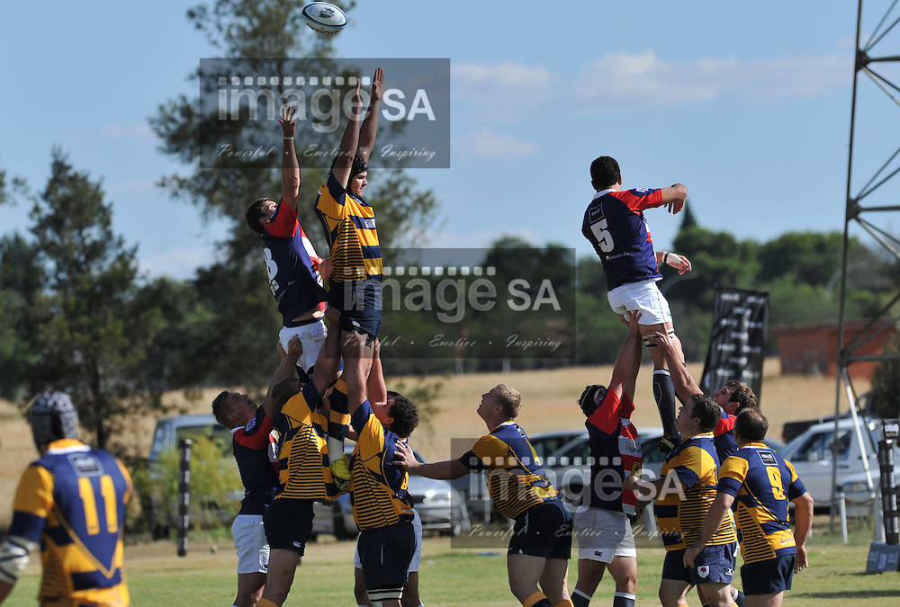 BLOEMFONTEIN, SOUTH AFRICA - MARCH 2 2013,  during match 19 of the Cell C Community Cup rugby match between Bloemfontein Police and Durbanville-Bellville held at Bobbies Park, Bloemfontein..Photo by ImageSA