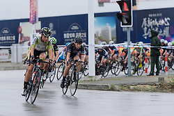 With Bujak's break ended, Anna Christian comes to the front - Tour of Chongming Island 2016 - Stage 3. A 99 km road race on Chongming Island, China on May 8th 2016.
