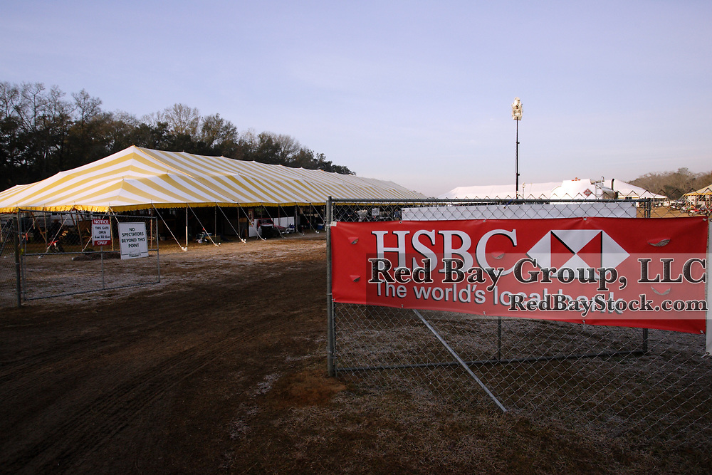 Stable arena at the 2010 HSBC FEI World Cup Eventing Qualifier at Red Hills Horse Trials in Tallahassee, Florida