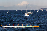 Hayama Marina and Sagami Bay have been chosen by the Japan Olympics committee to host the 2020 sailing events, in conjunction with Enoshima, just across the bay.  Several teams, including the sailing crews from Poland and the UK have chosen Hayama, Kanagawa-ken, as their headquarters during the event.  Hayama is also the site of regular Nippon Cup sailing events that take place yearly, in cooperation with the Hayama Marine Yacht Club.  The small town of Hayama is also known for its fine beaches and for the Emperor of Japan's seaside villa, off limits to the public, but adjacent to one of the top 100 beaches in Japan, popular in summer.  Off season, Hayama is a quiet seaside fishing village, with an interesting population:  a mix of creative types who need quiet and reflection away from the distractions of Tokyo yet only an hour away by train; also evident are wealthy people from Tokyo with weekend villas and condos, as well as retired people who abandoned Tokyo for the easy life by the sea in their golden years. Sagami Bay is contained within the Miura Peninsula on its eastern side to the Izu Peninsula to the west.  However, the segment from Miura to Enoshima island is ideal of sailing conditions and thus its popularity in the area, thus its selection as 2020 Olympics sailing venue. As an added plus, there are view of Mt Fuji to be seen on clear days, though usually not in summer.