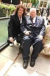Left to right, BRIAN MAY and SIR PATRICK MOORE at the 2008 Chelsea Flower Show 19th May 2008.<br /><br />NON EXCLUSIVE - WORLD RIGHTS