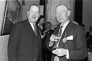 28/04/1964<br /> 04/28/1964<br /> 28 April 1964<br /> Watney Sales Conference at the Shelbourne Hotel, Dublin. At the conference were (l-r):  ? and Mr. J.A. Delany.