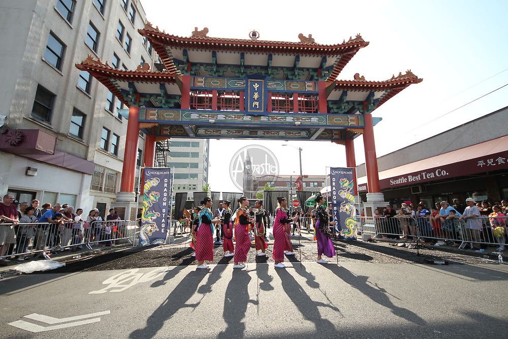 Seattle's Chinatown-ID Dragon Fest 2012.  Filipino Youth Activities (FYA) Drill Team.