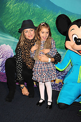 "TRINNY WOODALL and her daughter LYLA ELICHAOFF at a VIP Opening night of Disney & Pixar's ""Finding Nemo on Ice"" at The O2 Arena Grennwich London on 23rd October 2008."