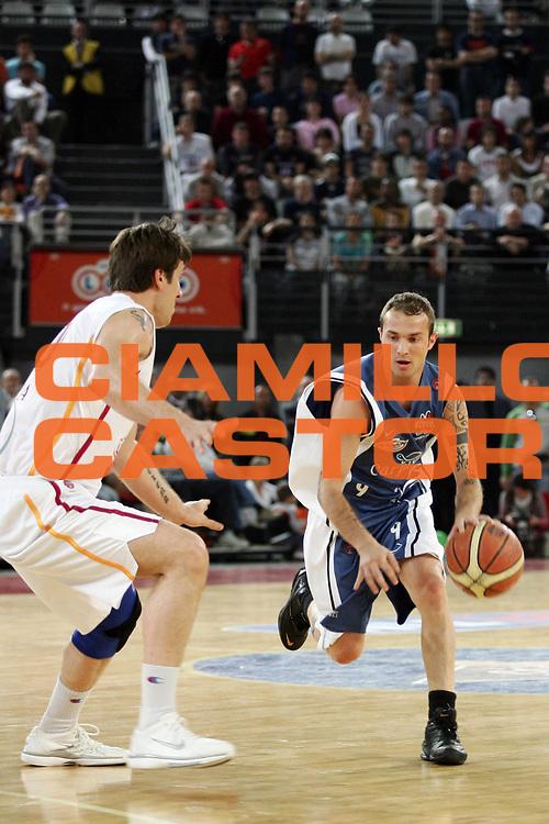 DESCRIZIONE : Roma Lega A1 2005-06 Lottomatica Virtus Roma Carpisa Napoli<br /> GIOCATORE : Spinelli<br /> SQUADRA : Carpisa Napoli<br /> EVENTO : Campionato Lega A1 2005-2006<br /> GARA : Lottomatica Virtus Roma Carpisa Napoli<br /> DATA : 07/05/2006<br /> CATEGORIA : Penetrazione<br /> SPORT : Pallacanestro<br /> AUTORE : Agenzia Ciamillo-Castoria/A.De Lise