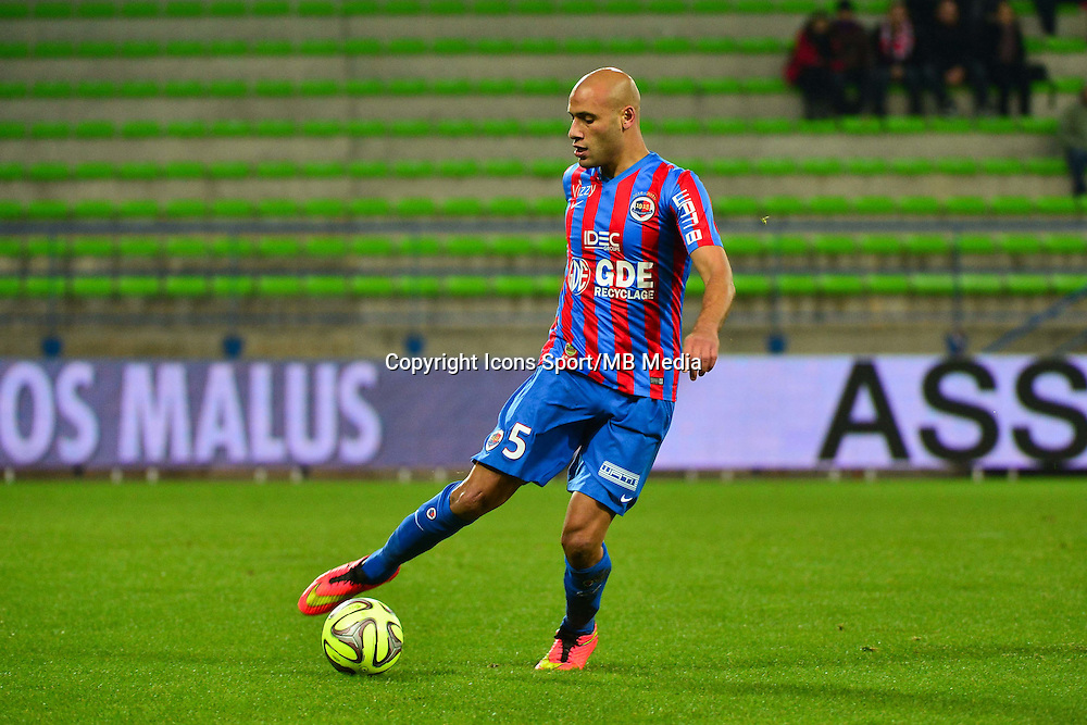 Alaedinne YAHIA - 06.12.2014 - Caen / Nice - 17eme journee de Ligue 1 -<br />