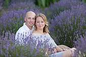 Megan & Eric, a summer evening engagement session at the Lavender Farm