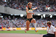 Jana Veldakova of Slovakia in the Long Jump during the Sainsbury's Anniversary Games at the Queen Elizabeth II Olympic Park, London, United Kingdom on 25 July 2015. Photo by Phil Duncan.