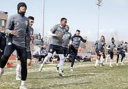 February 2, 2019: OKC Energy FC plays the University of Tulsa Golden Hurricanes in a USL preseason match at Taft Stadium in Oklahoma City, Oklahoma.