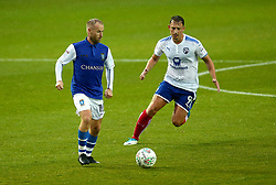 Barry Bannan of Sheffield Wednesday takes on Kristian Dennis of Chesterfield - Mandatory by-line: Robbie Stephenson/JMP - 08/08/2017 - FOOTBALL - Hillsborough - Sheffield, England - Sheffield Wednesday v Chesterfield - Carabao Cup