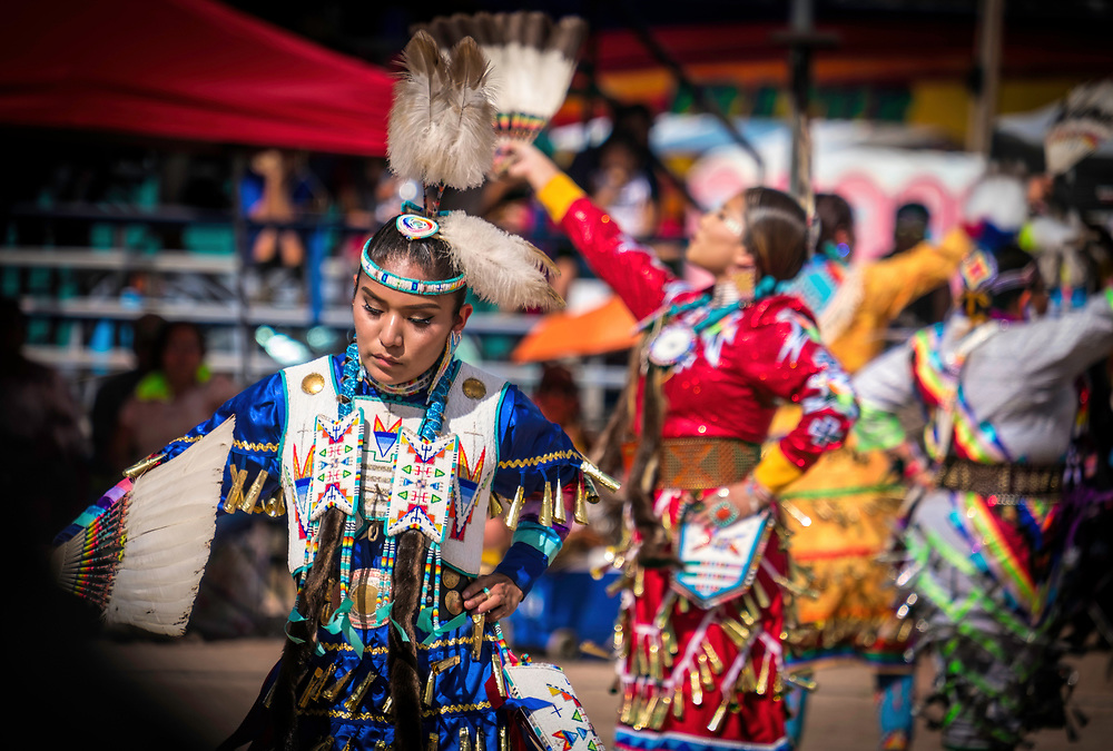 Jingle Dancer at Navajo Nation Fair Pow Wow in Window Rock, Arizona