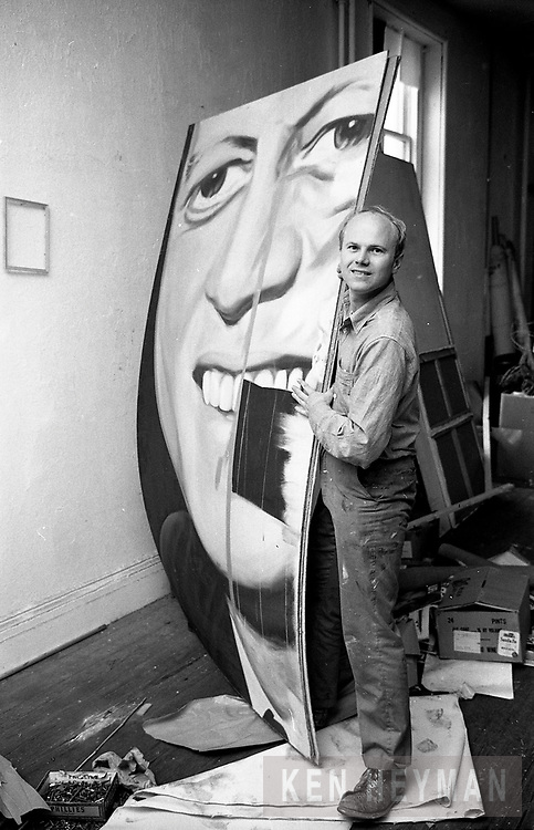 James Rosenquist in his studio
