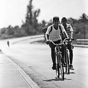 Biking near Veradero, Cuba.
