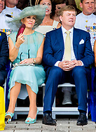 2-7-2018 - WILLEMSTAD - King Willem-Alexander and Queen Maxima during the celebration of Dia di Bandera during a two-day visit of the royal couple on the occasion of Dia di Bandera. COPYRIGHT ROBIN UTRECHT