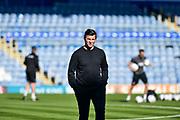 Fleetwood Town Manager, Joey Barton check the pitch on a sunny day in the south coast during the EFL Sky Bet League 1 match between Portsmouth and Fleetwood Town at Fratton Park, Portsmouth, England on 20 October 2018.
