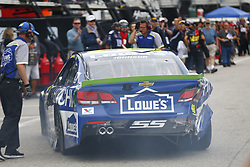 September 22, 2017 - Loudon, New Hampshire, United States of America - September 22, 2017 - Loudon, New Hampshire, USA: Jimmie Johnson (48) makes heavy contact with the wall during practice for the ISM Connect 300 at New Hampshire Motor Speedway in Loudon, New Hampshire. (Credit Image: © Justin R. Noe Asp Inc/ASP via ZUMA Wire)