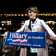 Clinton supporter Attorney Gloria Allred on the second day of the Democratic National Committee (DNC) Convention at the Pepsi Center in Denver, Colorado (CO) Tuesday, Aug. 26, 2008.  ..Photo by Khue Bui