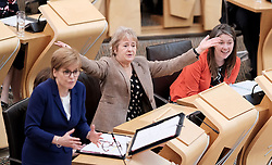 First Minister's Questions in the Scottish Parliament<br /> <br /> Thursday, 19th September 2019<br /> <br /> Pictured: First Minister Nicola Sturgeon MSP, Roseanna Cunningham MSP and Aileen Campbell MSP<br /> <br /> Alex Todd | Edinburgh Elite media