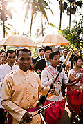 Wedding in a village near Angkor temples. Siem Reap, Cambodia. Siem Reap, Cambodia