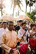 Wedding in a village near Angkor temples. Siem Reap, Cambodia. Siem Reap, Cambodia