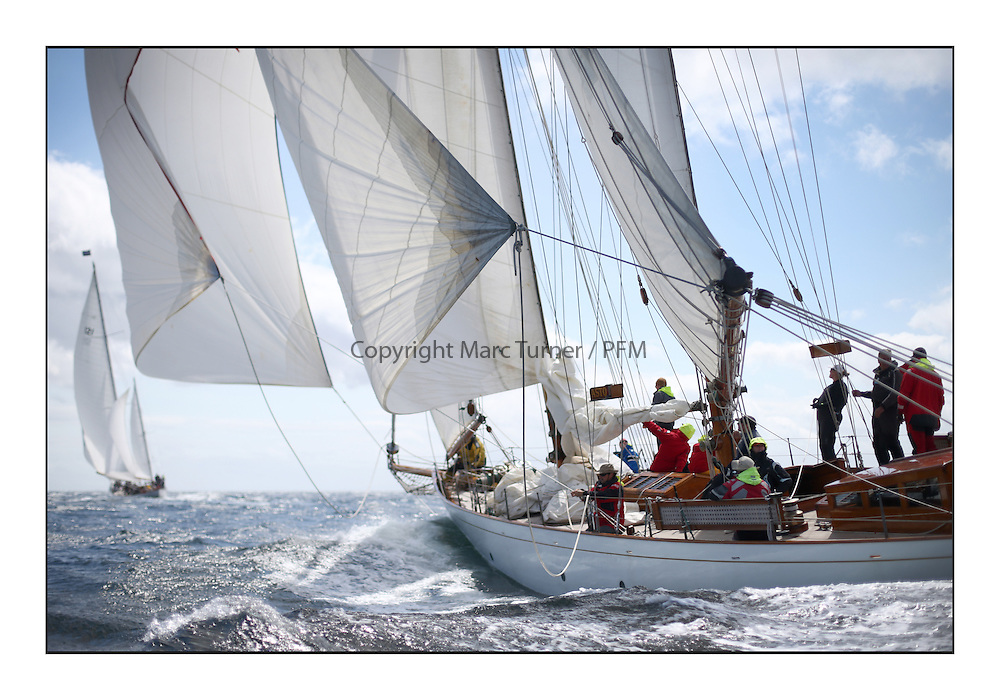 Day five of the Fife Regatta, Race from Portavadie on Loch Fyne to Largs. <br /> <br /> <br /> Astor, Richard Straman, USA, Schooner, Wm Fife 3rd, 1923 and Latifa, 8, Mario Pirri, ITA, Bermudan Yawl, Wm Fife 3rd, 1936<br /> <br /> * The William Fife designed Yachts return to the birthplace of these historic yachts, the Scotland&rsquo;s pre-eminent yacht designer and builder for the 4th Fife Regatta on the Clyde 28th June&ndash;5th July 2013<br /> <br /> More information is available on the website: www.fiferegatta.com