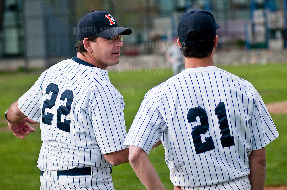 April 09, 2010 - Bronx, NY : In a game that was closer than the score indicated, the Fieldston Eagles blew out the Horace Mann Lions on April 9.