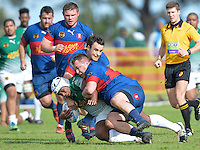 GEORGE, SOUTH AFRICA - SEPTEMBER 24: Layle Delo of RSK Evergreens during the Gold Cup 2016 match between RSK Evergreens and Pirates at Pacaltsdorp Sports Ground on September 24, 2016 in George, South Africa. (Photo by Roger Sedres/Gallo Images)