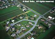 Lancaster Co. aerial photographs, suburban development on farmland, Aerial Photograph Pennsylvania