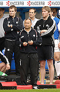 Reading, ENGLAND, Saracens coach, Eddie Jones and staff watch the match, London Irish vs Saracens, Guinness Premiership Rugby, at the, Madejski Stadium, 06.05.2006, © Peter Spurrier/Intersport-images.com,  / Mobile +44 [0] 7973 819 551 / email images@intersport-images.com.