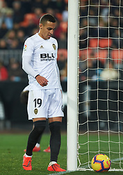 January 26, 2019 - Valencia, Valencia, Spain - Rodrigo Moreno of Valencia CF during the La Liga Santander match between Valencia and Villarreal at Mestalla Stadium on Jenuary 26, 2019 in Valencia, Spain. (Credit Image: © Maria Jose Segovia/NurPhoto via ZUMA Press)