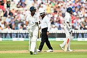 Wicket - KL Rahul of Indiawalks back to the pavilion after being dismissed by Sam Curren of England during second day of the Specsavers International Test Match 2018 match between England and India at Edgbaston, Birmingham, United Kingdom on 2 August 2018. Picture by Graham Hunt.