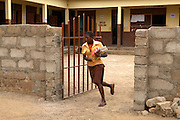 Students arriving in the morning at Tonga Junior High School in Talensi Nabdam, Ghana.