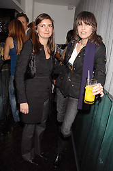 Left to right, VANESSA WINGATE and CHRISSIE HYNDE at the Grand Classic screening of The Apartment held at The Electric Cinema, 191 Portobello Road, London on 16th March 2008.<br />