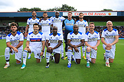 Mark Wright, Joleon Lescott,  Frank Sinclair, Dom Lever, Joshua Ritchie, team shot during the Joe Thompson's Allstars v Joe Thompson's Celebrity 11 in Rochdale at the Crown Oil Arena, Rochdale, England on 21 July 2019.