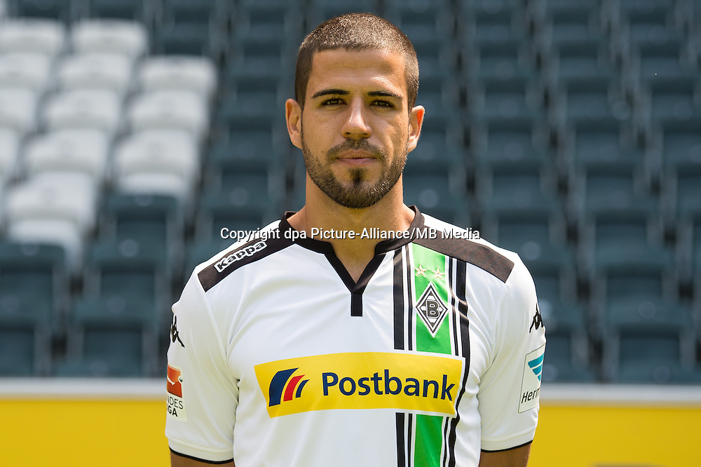 German Soccer Bundesliga 2015/16 - Photocall Borussia Moenchengladbach on 10 July 2015 in Moenchengladbach, Germany: Alvaro Dominguez