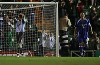 Photo: Lee Earle.<br /> Plymouth Argyle v Cardiff City. Coca Cola Championship. 12/09/2006. Cardiff's Neil Alexander (L) and Darren Purse (R) look gutted after Darren Purse scored an own goal.