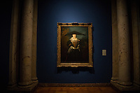 """Strasbourg, France - November 15, 2014: """"The Beautiful Strasbourg Woman"""" by Nicolas de Largillière hangs in the musée des beaux-arts, which is housed at the Palais Rohan. The palace like most things in Strasbourg has changed hands between the Germans and the French several times.  Today it houses museums of archaeology,<br /> decorative arts and fine arts. CREDIT: Chris Carmichael for the New York Times"""
