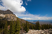 View of Grand Teton National Park,  near Surprise Lake, 3000m up.