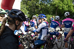 Lotta Lepistö (FIN) of Cervélo-Bigla Cycling Team waits for the start of Stage 2 of the Ladies Tour of Norway - a 140.4 km road race, between Sarpsborg and Fredrikstad on August 19, 2017, in Ostfold, Norway. (Photo by Balint Hamvas/Velofocus.com)
