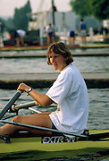 FISA World Cup 1990's, at Lucerne International Regatta, Lake Rotsee, Lucerne SWITZERLAND and Henley Royal Regatta..BEL W1X Aniss BREADEL.FISA World cup events Lucerne and HRR Pictures from the first World Cup events, Men's and Women's singles 1990/91 FISA World Cup Lucerne and