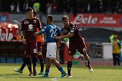 May 6, 2018 - Naples, Italy - Lorenzo Insigne of SSC Napoli greets Cristian Ansaldi of Torino FC after the serie A match between SSC Napoli and Torino FC at Stadio San Paolo on May 6, 2018 in Naples, Italy. (Photo by Paolo Manzo/NurPhoto) (Credit Image: © Paolo Manzo/NurPhoto via ZUMA Press)