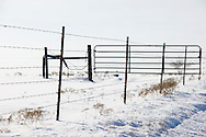 Scenic views of snow following a sudden winter storm in central Oklahoma.