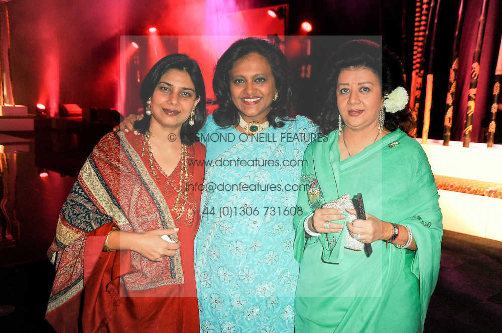 Left to right, ANJALI SAPRA, SUNITA KUMAR and PRINCESS ASHA RAJE at ARTiculate, Pratham UK Fundraising Gala held at The Old Billingsgate Market, City Of London on  11th September 2010 *** Local Caption *** Image free to use for 1 year from image capture date as long as image is used in context with story the image was taken.  If in doubt contact us - info@donfeatures.com<br /> Left to right, ANJALI SAPRA, SUNITA KUMAR and PRINCESS ASHA RAJE at ARTiculate, Pratham UK Fundraising Gala held at The Old Billingsgate Market, City Of London on  11th September 2010