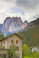 Old house, Dolomite Mountains, Val di Fassa, South Tyrol, Italy