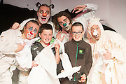 12/102015 repro free <br /> Darragh Judge and Senan Gildae Inis Mor Arann with the cast from Paper World in the 19th Babor&oacute; International Arts Festival for Children, Ireland&rsquo;s flagship festival for children and their families starts today in Galway and runs until Sunday October 18 .This seven day creative extravaganza offers a very special journey for the heart and soul.<br /> <br />  Featuring work from Ireland and right across the globe, including Belgium, Canada, Italy, Scotland, Spain and Ukraine, programme highlights include the world premiere of CoisC&eacute;im&rsquo;s The Wolf and Peter. This reimagining of Prokofiev&rsquo;s &lsquo;Peter and the Wolf&rsquo; tells a timeless story of courage and imagination, now told through the eyes of the &lsquo;Wolf&rsquo;, taking children and their families on a thrilling adventure with the classic characters Bird, Cat, Duck, Grandfather, Hunters and Peter.  . Photo:Andrew Downes, xposure