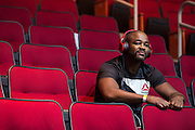 HOUSTON, TX - OCTOBER 2:  Rashad Evans waits backstage before the UFC 192 weigh-in at the Toyota Center on October 2, 2015 in Houston, Texas. (Photo by Cooper Neill/Zuffa LLC/Zuffa LLC via Getty Images) *** Local Caption *** Rashad Evans